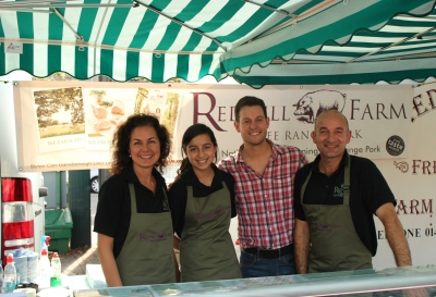 BBC Countryfile's Matt Baker filming with us at Sleaford Farmers' Market