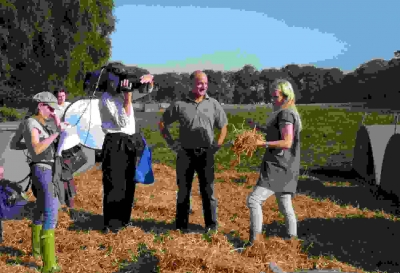 BBC Countryfile filming on the farm